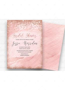 Rose Gold Bridal Shower Invitation