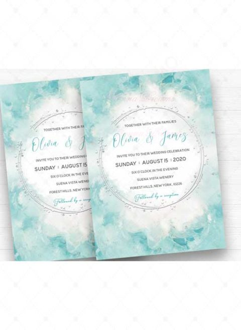 Wedding Invitation Turquoise and Silver Ideas
