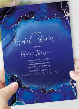 Royal Blue and Silver Bridal Shower