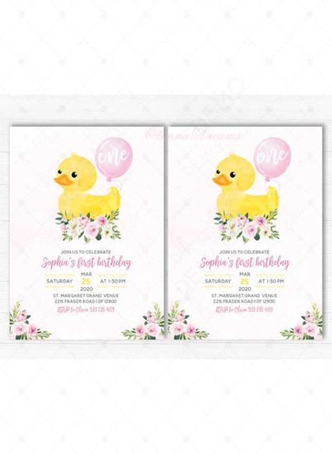 Rubber Duck Birthday Party Invitation
