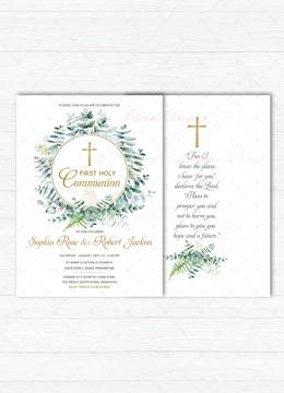 Twin First Communion Invitations
