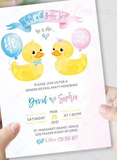 Gender Reveal Invitation Template