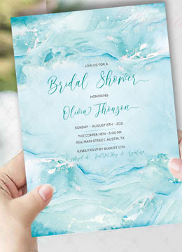 Tiffany Bridal Shower Invitation