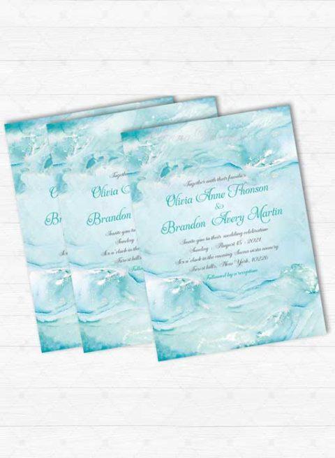 Tiffany Blue Wedding Invitation Kits