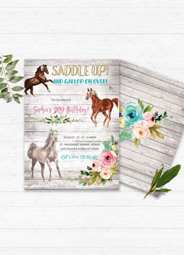 Birthday Invitations With Horses