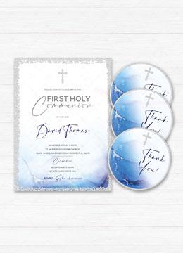 Boy Communion Invitation