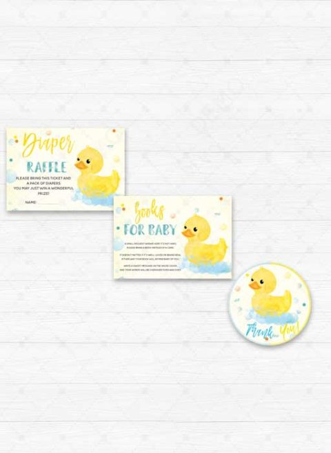 Boy Rubber Duck Baby Shower Invitation