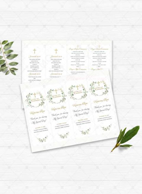 First Communion Bookmarks Personalized