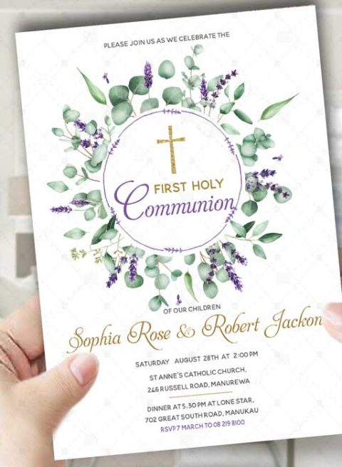 First Holy Communion Invitations For Twins