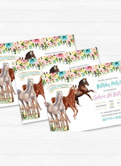 Horse Birthday Party Invites