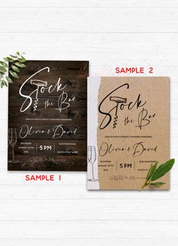 Printable Stock the Bar Invitation