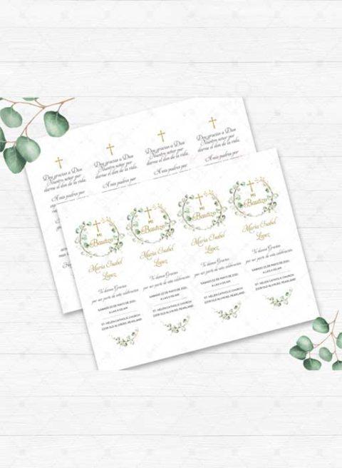 Baptism Prayer Card in Spanish