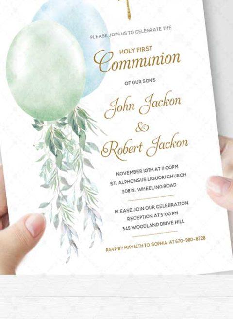 Boy Twins First Holy Communion