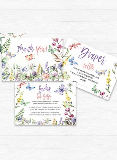 Butterfly Themed Baby Shower Invitations