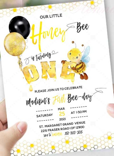 First Bee Day Invitations