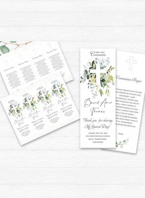 First Communion Holy Prayer Card