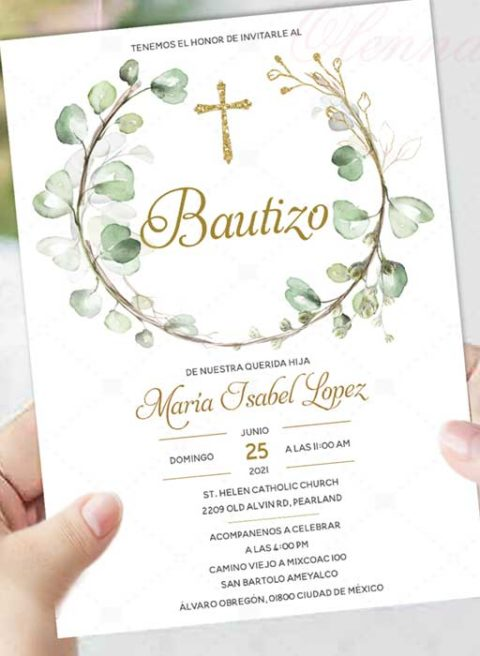 Invitation For Baptism in Spanish