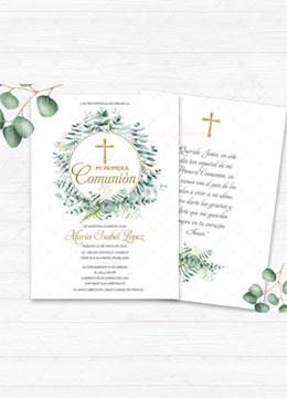 Primera comunion invitacion imprimible