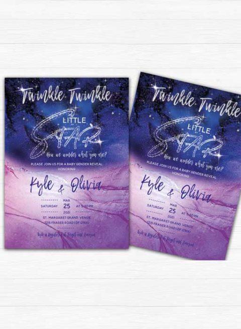 Twinkle Twinkle Gender Reveal Invitation
