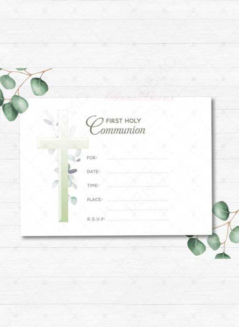 1st Communion Invitation Templates