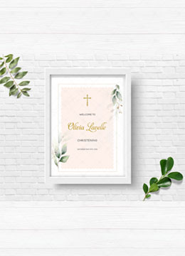 Christening Welcome Sign