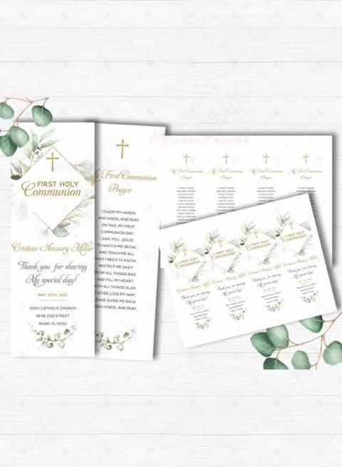 First Communion Prayer Card Printable