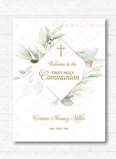 First Holy Communion Welcome Sign