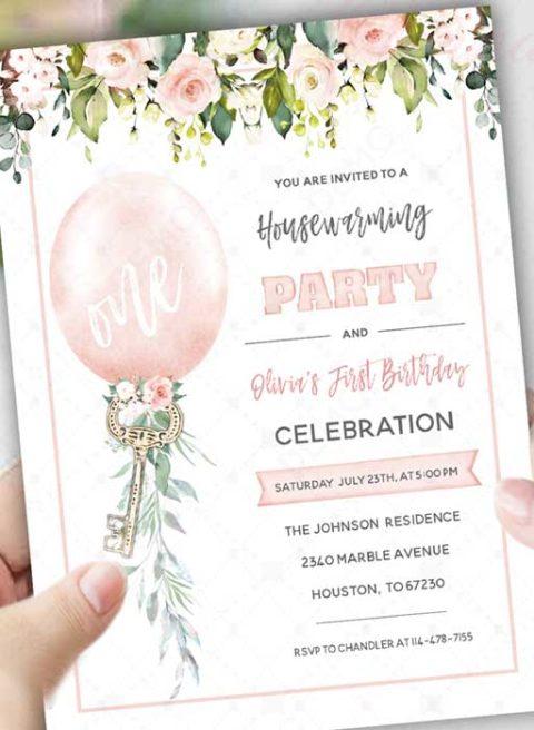 Housewarming and Birthday Invitation