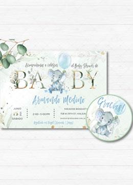 Invitacion Baby Shower Espanol Boy
