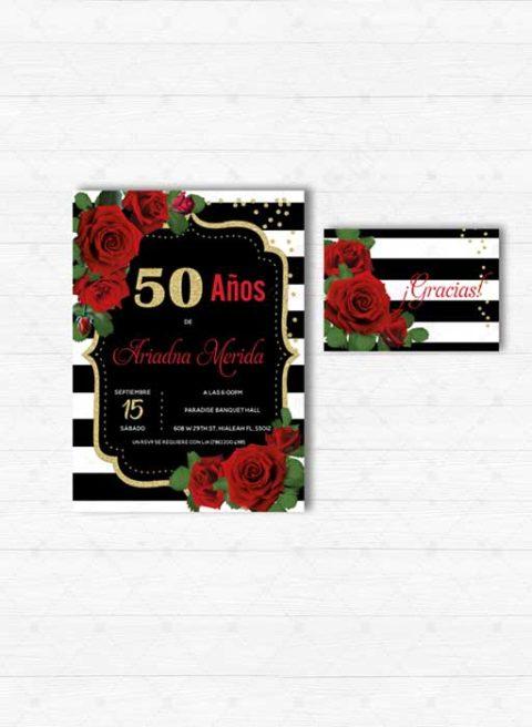 Invitación de 50 Años mujer