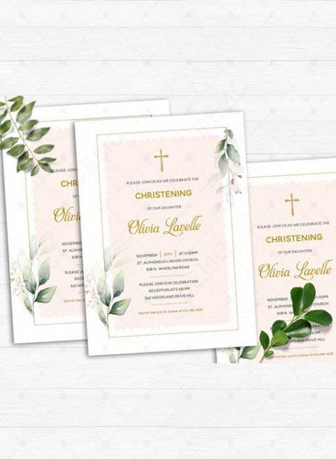 Invitations For Christening Girl