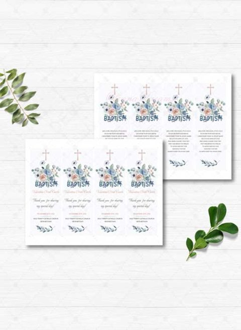Personalized Baptism Thank You cards
