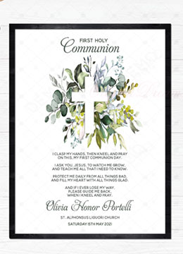 Personalized First Holy Communion Card