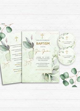 Baptism Invitation Card for baby boy