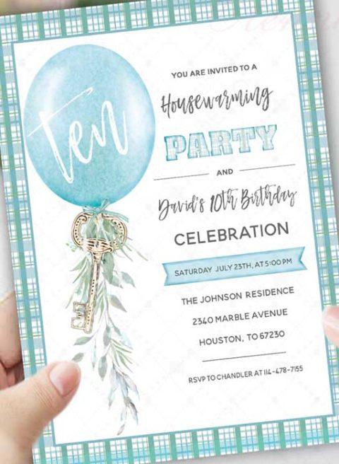 Birthday and Housewarming Party invitation