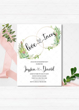 Love and Tacos Engagement Party Invitation