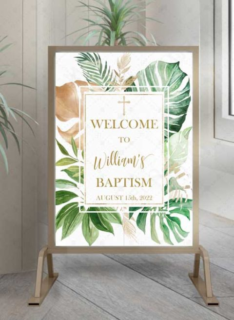 Personalized Baptism Welcome Sign Boy