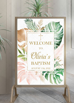 Personalized Baptism Welcome Sign Girl