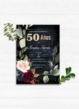 SPANISH 50th Birthday Invitation