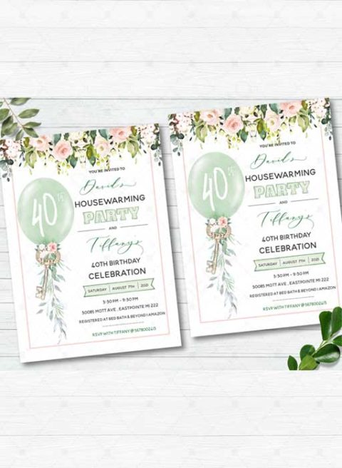 Birthday and Housewarming Party invitations