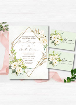 Invitaciones De Boda Digital Con Flores