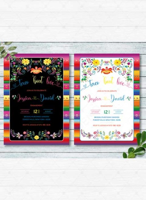Taco 'Bout Love Engagement Party Invitation