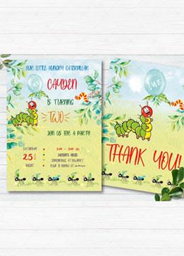 The Very Hungry Caterpillar Birthday Invitation