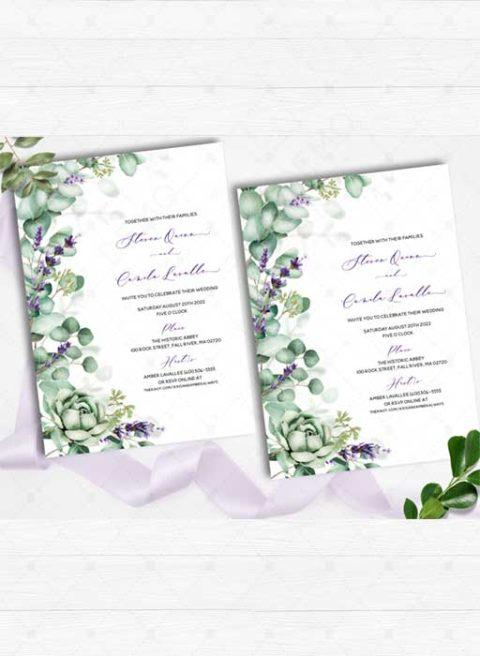 Lavender Wedding Invitations Printable